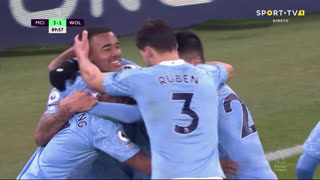 GOLO! Man. City, R. Mahrez aos 90', Man. City 3-1 Wolverhampton