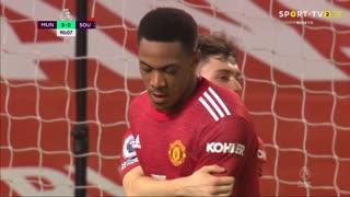 GOLO! Man. United, A. Martial aos 90', Man. United 8-0 Southampton