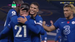 GOLO! Chelsea, B. Chilwell aos 34', Chelsea 2-1 Sheffield United