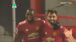 GOLO! Man. United, A. Wan-Bissaka aos 18', Man. United 1-0 Southampton