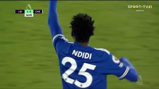 GOLO! Leicester City, O. Ndidi aos 6', Leicester City 1-0 Chelsea
