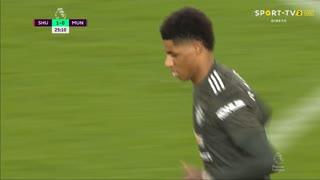 GOLO! Man. United, M. Rashford aos 26', Sheffield United 1-1 Man. United