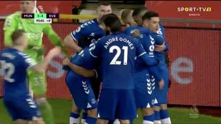 GOLO! Everton, D. Calvert-Lewin aos 90'+5', Man. United 3-3 Everton