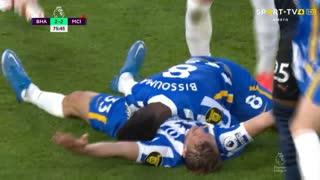 Premier League (37ª Jornada): Resumo Brighton 3-2 Man. City