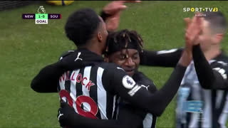 GOLO! Newcastle, J. Willock aos 16', Newcastle 1-0 Southampton