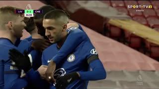 GOLO! Chelsea, M. Mount aos 42', Liverpool 0-1 Chelsea