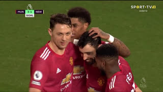 GOLO! Man. United, Bruno Fernandes aos 75', Man. United 3-1 Newcastle