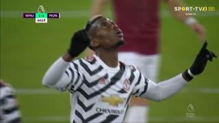 GOLO! Man. United, P. Pogba aos 65', West Ham 1-1 Man. United
