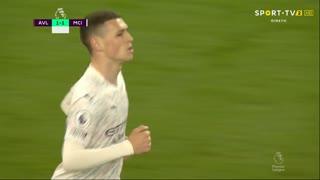 GOLO! Man. City, P. Foden aos 22', Aston Villa 1-1 Man. City