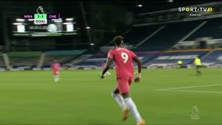 GOLO! Chelsea, T. Abraham aos 90'+3', West Bromwich Albion 3-3 Chelsea