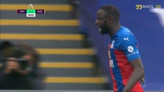 GOLO! Crystal Palace, C. Kouyaté aos 26', Crystal Palace 1-1 Everton