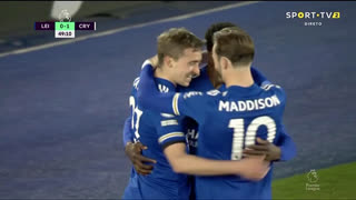 GOLO! Leicester City, T. Castagne aos 50', Leicester City 1-1 Crystal Palace