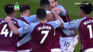 GOLO! Aston Villa, A. El Ghazi aos 90'+4', Wolverhampton 0-1 Aston Villa