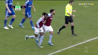 GOLO! Aston Villa, B. Traoré aos 48', Aston Villa 1-2 Leicester City