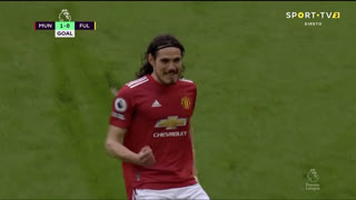 GOLO! Man. United, E. Cavani aos 15', Man. United 1-0 Fulham