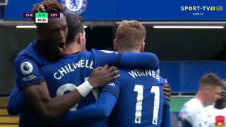 GOLO! Chelsea, B. Chilwell aos 50', Chelsea 1-0 Crystal Palace