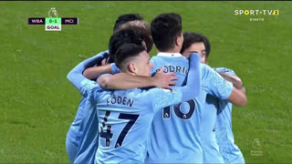 GOLO! Man. City, I. Gündogan aos 6', West Bromwich Albion 0-1 Man. City