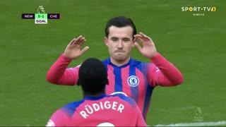 GOLO! Chelsea, F. Fernández (p.b.) aos 10', Newcastle 0-1 Chelsea
