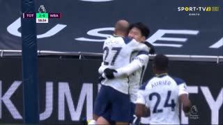 GOLO! Tottenham, Heung-Min Son aos 58', Tottenham 2-0 West Bromwich Albion