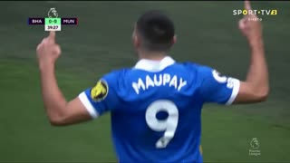GOLO! Brighton, N. Maupay aos 40', Brighton 1-0 Man. United