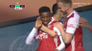 GOLO! Arsenal, E. Nketiah aos 90'+7', Arsenal 1-1 Fulham