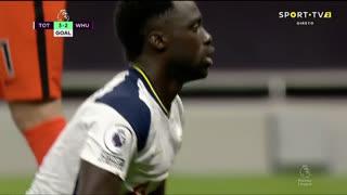 GOLO! West Ham, D. Sánchez (p.b.) aos 85', Tottenham 3-2 West Ham