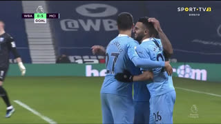 GOLO! Man. City, R. Sterling aos 57', West Bromwich Albion 0-5 Man. City