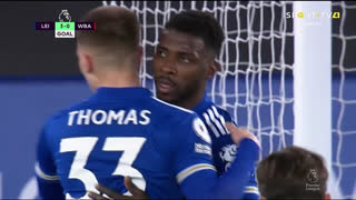 GOLO! Leicester City, K. Iheanacho aos 36', Leicester City 3-0 West Bromwich Albion