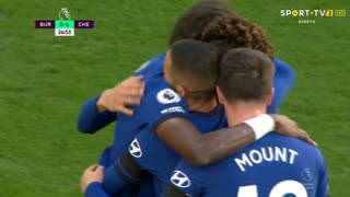 GOLO! Chelsea, H. Ziyech aos 26', Burnley 0-1 Chelsea