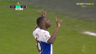 GOLO! Crystal Palace, C. Benteke aos 90'+5', Brighton 1-2 Crystal Palace