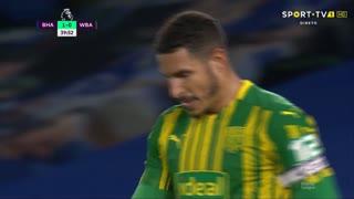 GOLO! Brighton, J. Livermore (p.b.) aos 40', Brighton 1-0 West Bromwich Albion