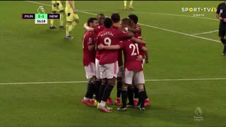 GOLO! Man. United, D. James aos 57', Man. United 2-1 Newcastle