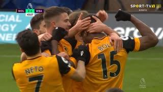 GOLO! Wolverhampton, W. Boly aos 43', Wolverhampton 2-1 West Bromwich Albion