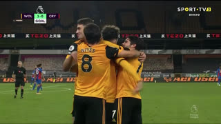 GOLO! Wolverhampton, R. Aït Nouri aos 18', Wolverhampton 1-0 Crystal Palace