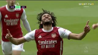 GOLO! Arsenal, Mohamed El Nenny aos 5', Newcastle 0-1 Arsenal