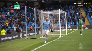 GOLO! Man. City, Aguero aos 76', Man. City 5-0 Everton