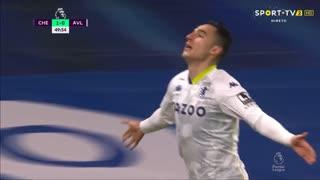 GOLO! Aston Villa, A. El Ghazi aos 50', Chelsea 1-1 Aston Villa