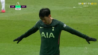 GOLO! Tottenham, Heung-Min Son aos 25', Leeds United 1-1 Tottenham