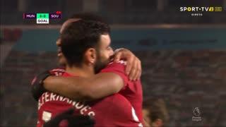 GOLO! Man. United, Bruno Fernandes aos 87', Man. United 7-0 Southampton
