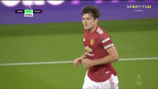 GOLO! Man. United, H. Maguire aos 23', Newcastle 1-1 Man. United