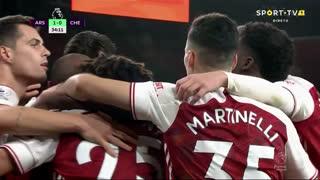 GOLO! Arsenal, A. Lacazette aos 34', Arsenal 1-0 Chelsea