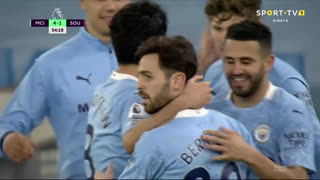 GOLO! Man. City, R. Mahrez aos 55', Man. City 4-1 Southampton