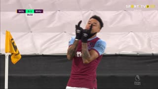 GOLO! West Ham, J. Lingard aos 6', Wolverhampton 0-1 West Ham