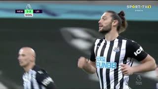 GOLO! Newcastle, A. Carroll aos 82', Newcastle 1-2 Leicester City