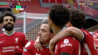 GOLO! Liverpool, T. Alexander-Arnold aos 90'+1', Liverpool 2-1 Aston Villa