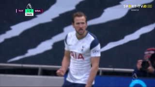 GOLO! Tottenham, H. Kane aos 54', Tottenham 1-0 West Bromwich Albion