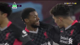 GOLO! Liverpool, G. Wijnaldum aos 84', West Ham 0-3 Liverpool