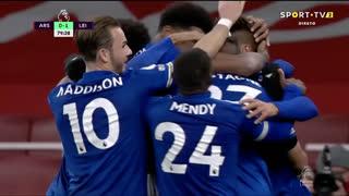 GOLO! Leicester City, J. Vardy aos 80', Arsenal 0-1 Leicester City