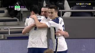 GOLO! Tottenham, G. Bale aos 69', Tottenham 3-0 Sheffield United