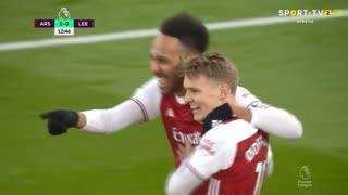 GOLO! Arsenal, P. Aubameyang aos 13', Arsenal 1-0 Leeds United